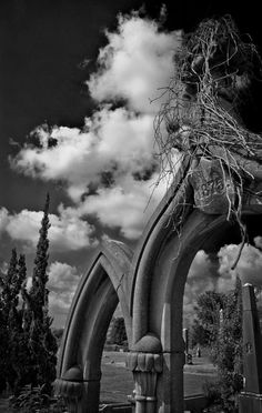 Gothic Arches - Greenwood Cemetery, Mississippi