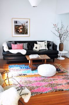 Decorating with vintage Moroccan rugs