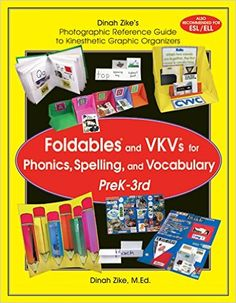 Dinah Zike's Foldables and VKVs for Phonics, Spelling, and Vocabulary PreK-3rd: Dinah Zike: 9781882796267: Amazon.com: Books