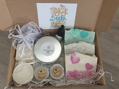 Enjoy The Little Things Gift Handmade Cosmetics, Handmade Soaps, Birthday Gifts For Girlfriend, Gifts For Wife, Vegan Deodorant, Organic Bar Soap, Anniversary Favors, Coconut Soap, Love No More