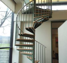 The Mylen Stairs CS-100 model is the most unique spiral staircase in the industry. Contact us today to learn more about the beautiful CS-100 model.