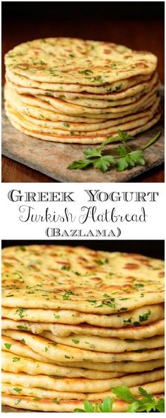 This delicious, pillowy soft Turkish Flatbread is an easy, one-bowl-no-mixer recipe using Greek Yogurt. It's perfect with hummus, tabouli, for wraps and more! recipes easy no yeast dinner rolls Greek Yogurt Turkish Flatbread (Bazlama) Bread Machine Recipes, Easy Bread Recipes, Cooking Recipes, Easy Cooking, Flat Bread Recipe Easy, Cooking Tips, Chicken Recipes, Easy Flatbread Recipes, Cooking Classes