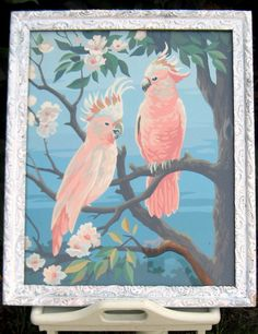 Vintage Cockatiel Paint By Numbers Picture