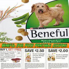 Beneful Dog Food Printable Coupons