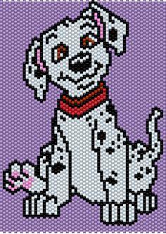 101 Dalmations Puppy___Peyote/Brick Stitch Pattern