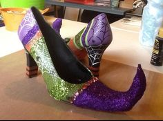Witch Shoes made by my Sister!  Love.