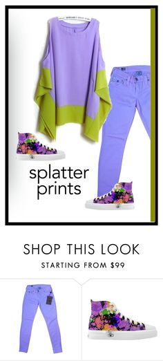 """""""Splatter Print Hi Tops"""" by patricia-dimmick on Polyvore featuring True Religion and splatterprints"""