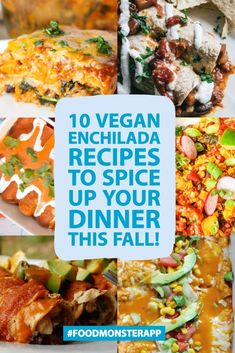 Pin these awesome vegan recipes and check them out on the They are easy, plant-based dishes perfect for lunch, dinner, snacks, etc. And so delicious too! Vegan Mexican Recipes, Vegetarian Recipes Easy, Delicious Vegan Recipes, Veggie Recipes, Whole Food Recipes, Healthy Recipes, Vegan Foods, Vegan Dishes, Vegan Meals