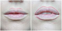 I also round my top lip a little more because I like the shape it gives.