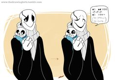 I'm just…going to keep drawing dadster…now with babybones! I keep making Gaster cute goshdangit Undertale Gaster, Undertale Love, Undertale Memes, Undertale Fanart, Frisk, Baby Sans, Sans Cute, Toby Fox, In This World