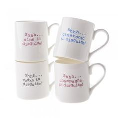 Shhh... Wine in Disguise Mug - from Mollie & Fred UK