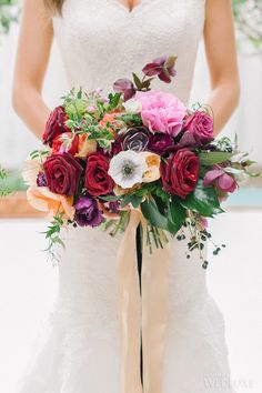 vibrant spring wedding filled with colourful blooms