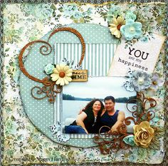 Created with Swirlydoos June KOM and added Creative Embellishments chipboard Heart Flourishes from my stash.