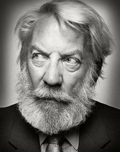 """Donald Sutherland. """"You have a little bit of talent, a certain amount of good fortune and a lot of hard work in pursuit of whatever truth you can find in it, and if you are really lucky, a terrific partner and I have that and those four things worked out for me."""""""