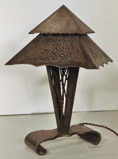 Metal art deco lamp.