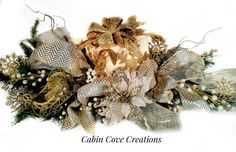 Christmas Centerpiece Decorative Gift Box by cabincovecreations