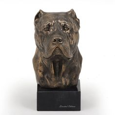 Cane Corso dog marble statue limited edition by ArtDogshopcenter