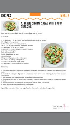 Ketogenic Girl, Ghee Butter, Bacon Dressing, 28 Day Challenge, Keto Recipes, Healthy Recipes, Garlic Shrimp, 28 Days, Keto Meal Plan