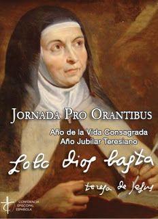 MONJAS AGUSTINAS DESCALZAS DE MURCIA: JORNADA PRO-ORANTIBUS, domingo 31 de mayo 2015: