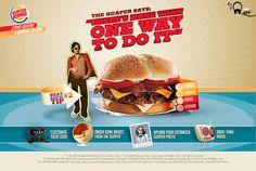 Burger King El Guaper by Sebastián Roach, via Behance