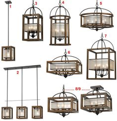 Arts Crafts Mission Pendant Lights Chandeliers Organza Silk, Wood, Iron 9 Styles - Chandeliers & Ceiling Fixtures