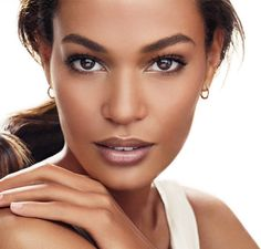 Soft neutral makeup eyes and lips - wedding makeup for black/African American women