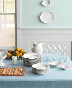 Martha Stewart Collection Dinnerware, Kensington Whiteware Collection - Casual Dining - Kitchen - Macy's
