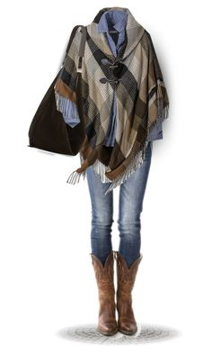 """Plaid Poncho"" by daiscat ❤ liked on Polyvore featuring The Row"