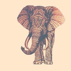 Elephant drawing, i love elephants