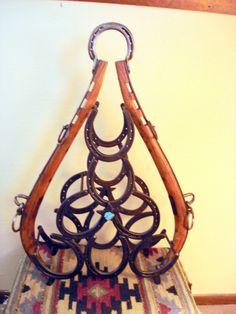 Unique horseshoe wineholder
