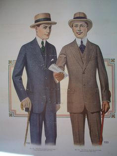 Catalogue of Men's Suits from 1916 (Mutual Tailoring of Chicago)