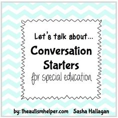 Conversation Starters by theautsimhelper.com