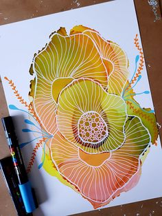 Mini coral 3 coral reef painting alcohol ink painting alcohol ink art abstract art original art wall art gifts for her Alcohol Ink Crafts, Alcohol Ink Painting, Alcohol Ink Art, Posca Art, Illustration Blume, Cross Hatching, Arte Popular, Ink Drawings, Doodle Art