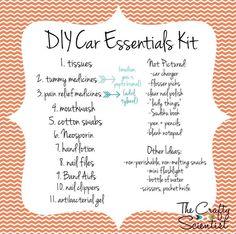 The Crafty Scientist: DIY Car Essentials Box car accessories Aston Martin Vanquish, Maserati Ghibli, Bmw I8, Box Tops, Audi Tt, Ford Gt, Porsche 911, Toyota, Volkswagen
