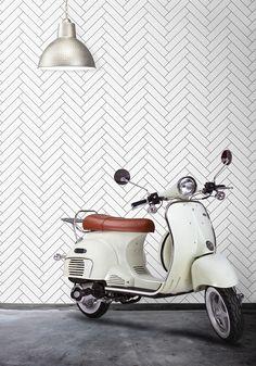 Tile Progress Wallpaper by Ingrid + Mika for Milton & King