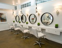 Bright and modern ikea salon furniture when all you need is a good read ikea light living room with two yellow wing chairs nest of tables in walnut nail Home Hair Salons, Hair Salon Interior, Salon Interior Design, Home Salon, Salon Design, Ikea Salon Station, Hair Salon Stations, White Hair Salon, Salon Mirrors
