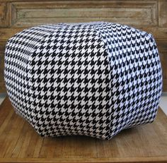 Pouf  Ottoman Floor Pillow Home Decor Accent by NuttyGirlDesigns, $80.00