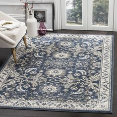 Found it at Wayfair - Arthur Dark Blue Area Rug