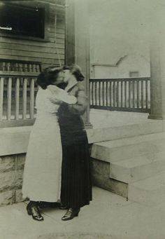 "A couple's photographic portrait is an affirmation of their relationship. It states for all to see: ""We love each other. We care for each other. We are proud of who we are together.""  During the Victorian era many gay and lesbian couples proudly expressed their love for each other in studio portraits."
