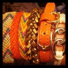 mixed bracelets diy & H