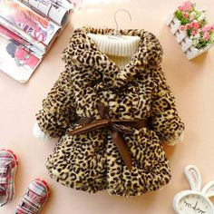 12m-4T baby clothes baby girl clothes winter coat kids cooleye coat  leopard. $26.99, via Etsy.