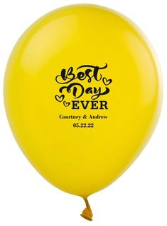 The Best Day Ever Latex Balloons