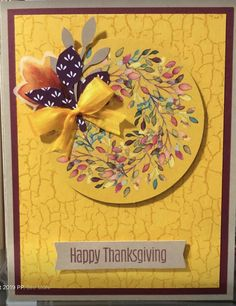 Stampin Up Paper Pumpkin, Pumpkin Cards, Homemade Greeting Cards, Hand Stamped Cards, Stamping Up Cards, Thanksgiving Cards, Fall Cards, Flower Cards, Cardmaking