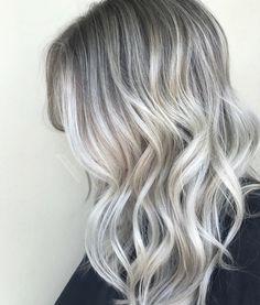 Platinum ash white blonde balayage
