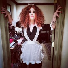 Kelly Osbourne as Magenta from The Rocky Horror Picture Show: | See What Your Favorite Celebrities Are Dressing Up As This Halloween