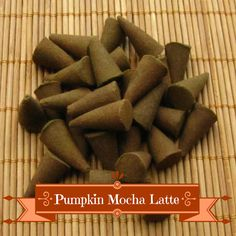 Pumpkin Mocha Latte Incense Cones - Hand Dipped Incense Cones by CherryPitCrafts on Etsy