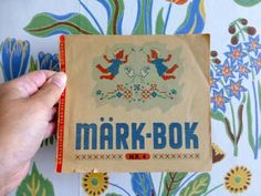 Vintage Swedish embroidery booklet / 40s 50s embroidery patterns