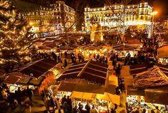 Vörösmarty Square Budapest at Christmas