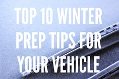 Get your car ready for the winter weather driving!