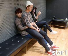 Jinwoo and Minho + Taehyun - @ Star1 Magazine November Issue '14